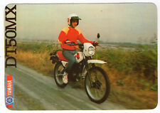1988 Portugese Pocket Calendar Yamaha DT50MX Motorcycle Motorbike bike