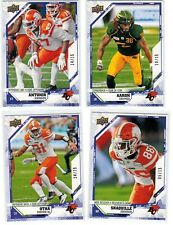 2019 Upper Deck CFL Purple 32 TJ Lee /15 BC Lions