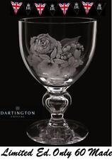 More details for dartington diamond jubilee queens rare spray goblet uk limited edition 19of 60