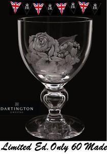 Dartington Diamond Jubilee Queens Rare Spray Goblet UK Limited Edition 19of 60