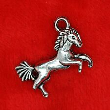 10 Silver all Coloured Horse Charms for Crafts Cards Favours Bracelet