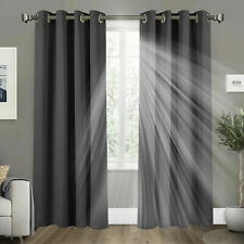Single Door Curtain Thermal Blackout Curtains Read Made Eyelet Ring Top Bedroom