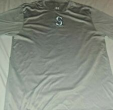 Seattle Mariners T Shirt Mens A4 Performance Short Sleeve Size L Gray