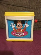 New listing Vintage Toy 1987 Mattel Mickey Mouse Jack In The Box Disney