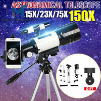 Pro 150X Refractor Telescope Tripod F30070M Monocular Space Astronomical B2AE
