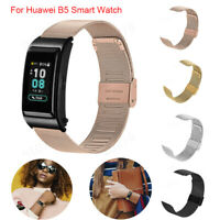 Replacement Stainless Steel Mesh Belt Wristband Strap For Huawei B5 Smart Watch