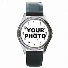 Leather Watch Custom Personalized Picture Photo Logo