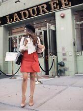 NEW JCREW Ruffle mini skirt in double-serge wool Dark Poppy Red Sz 4 G9148 $89