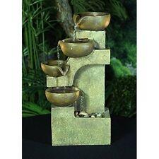 Water Fountain Cascading Tiering Pots Tabletop Indoor Patio Garden Relaxing Pump