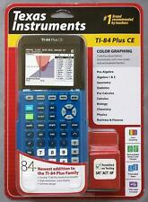 Brand New Texas Instruments TI-84 Plus CE Color Graphing Calculator Blue ti 84