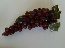 Faux Artificial Grape clusters, soft Rubber/plastic, Dark Red Mixed size grapes