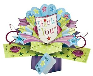 Thank You Card 3D Pop Up Card Gift Card