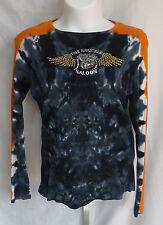 Twin Motorcycle Apparel Womens Size 2XL Long Sleeve Tye Dye Embeleshed Shirt Top