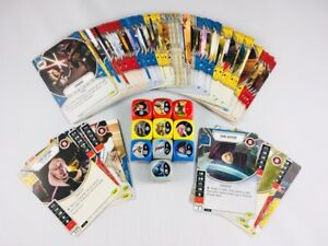 100 STAR WARS DESTINY CARDS Assorted Lot With 10 RARES & DICE