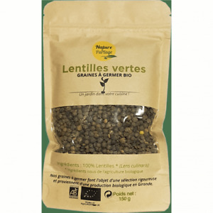 Graines à germer bio de Lentilles vertes – 150 g