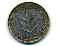 Palestine:KM-7,100 Mils,1939 * Silver * VF+ *