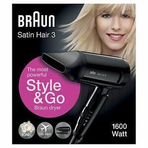 Ionic hair Dryer 1600 Watt Powerful Satin Hair Dryer 3 HD Style women & girls