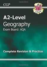 A2 Level Geography AQA Complete Revision & Practice, CGP Books, New condition, B