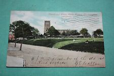 Vintage Postcard Church And Green, Earls Barton, Northampton