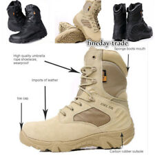 Men Military Tactical Boots Desert Combat Army Hiking Travel Bota Shoes UK STOCK