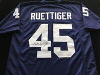 Rudy Ruettiger Signed Autographed Blue Football Jersey JSA COA Notre Dame Great