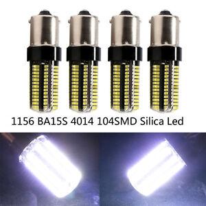 4Pcs 12V 24V 1156 BA15S 4014 104 SMD Silica LED Reverse Back up Replace Lights