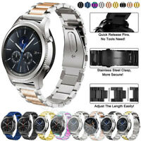 For Samsung Galaxy Watch 42/46mm Active 2 S2 S3 Stainless Steel Strap Metal Band