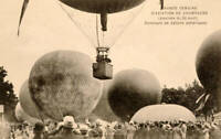 Hot Air Balloons At The Grand Semaine D'Aviation 1910 OLD ILLUSTRATION PHOTO