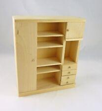 Dollhouse Miniature Modern Unfinished Wooden Storage Cabinet, GWJ25