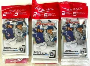 2020 BOWMAN BASEBALL VALUE PACKS ( 3 PACK LOT )