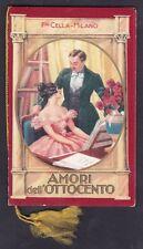 CALENDARIETTO CELLA 1935 AMORI DELL'800 - TORREFAZIONE CAFFÈ TONANI MI - BUSTINA