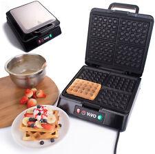 Vivo 4 Slice Belgian Waffle Maker Iron Machine in Stainless Steel 1300 Watts  N