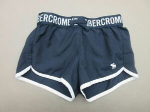 Abercrombie & Fitch Size 7-8 GIrls Navy Athletic Lined Performance Shorts T001