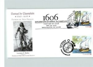 """JOINT ISSUE, Samuel de Champlain """"Father of New France"""" United States and CANADA"""