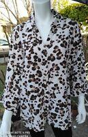 Women's JM Collection Animal Print Linen Tunic Top Plus Size 18W