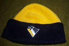 Authentic VINTAGE 1990s PITTSBURGH PENGUINS Stitched WINTER HAT Toque jersey l