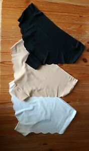 3 pairs No VPL knickers Size 18 Bnwt Smooth Soft Material nude white black