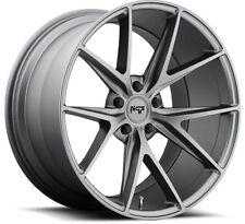 Niche Misano M116 18X9.5 5X112 +48 Gunmetal Rims Fits Mercedes C300 C350 Cla250