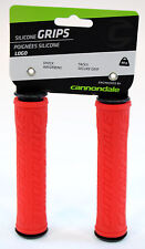 Cannondale Logo Mountain Bike Silicone Grips Red