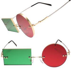 Spider Jerusalem Transmetropolitan Gold Frame Costume Party Cosplay Sun Glasses