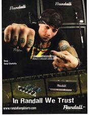 2004 RANDALL Amplifiers BENJI of GOOD CHARLOTTE Vtg Print Ad