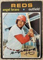 1971 Topps #538 Angel Bravo - Cincinnati Reds - Good (Crease)