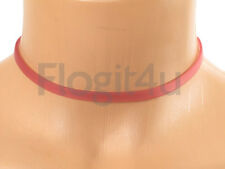 Lalique Silicone Pink Choker Necklace 6mm x 28-40cm Silver Chain New