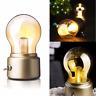 Retro LED Nightlight USB Rechargeable Desk Bulb Lamp Night Light Room Decor Gift