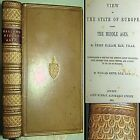 1880 EUROPE DURING MIDDLE AGES HENRY HALLAM FINE BINDING WAR ROYALTY MILITARY