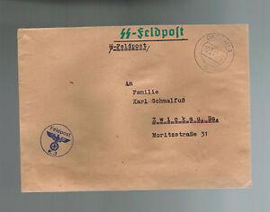 1941 Germany Dachau Concentration Camp KZ Guard Cover Waffen SS Feldpost