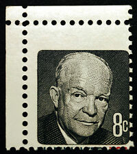 #1394d 8c 1970 Ike with Massive Misperf Missing Red & Blue Error *MNH*