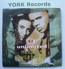 "2 UNLIMITED - Maximum Overdrive - Excellent Condition 7"" Single PWL 276"