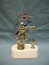 Boxer trophy patriotic star backdrop with star trim