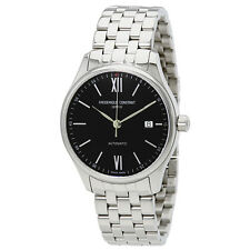 Frederique Constant Classic Automatic Black Dial Stainless Steel Mens Watch